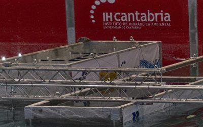 IHCantabria completa la campaña de ensayos para la caracterización del cajones flotantes